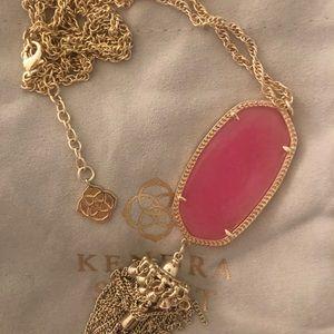 Kendra Scott RARE Light Pink Rayne Necklace